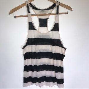 All Saints Dita Vest Striped Tank Top Size 4